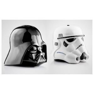 Star Wars: Darth Vader & Stormtrooper Helmet Salt & Pepper Shakers