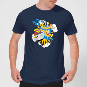 Sonic The Hedgehog Think You Can Beat Me Men's T-Shirt - Navy