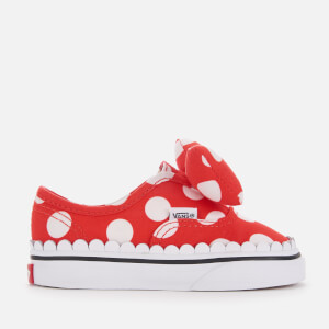Vans Toddler's Disney Minnie's Bow Authentic Trainers - True White