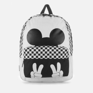 Vans Women's Checkerboard Mickey Realm Backpack - White/Black