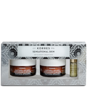 KORRES Sensational Skin Castanea Arcadia Day and Night Skin Care Duo (Worth £87.20)