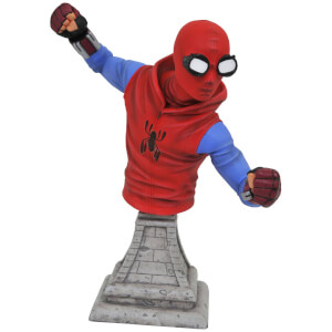 Diamond Select Marvel Spider-Man Homecoming, Statue als Büste im Design des selbstgemachten Anzugs, 15 cm