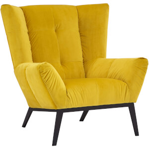 Fifty Five South Maiko Armchair - Yellow Fabric
