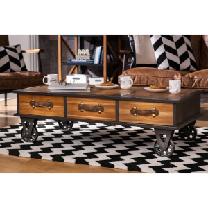 Fifty Five South New Foundry Coffee Table - Fir Wood/Metal