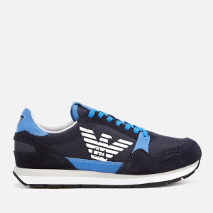 Emporio Armani Men's Zone Runner Style Trainers - Blue/Limoges/Night