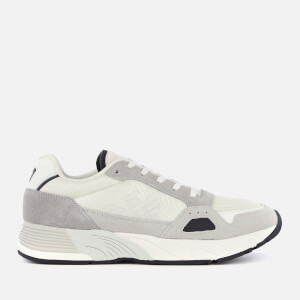 Emporio Armani Men's Zarks Mesh/Suede Runner Style Trainers - Plaster