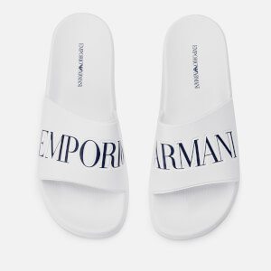 Emporio Armani Men's Zadar Slide Sandals - White/Night
