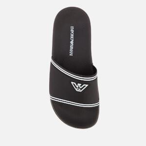 Emporio Armani Women's Slide Sandals - Black/White