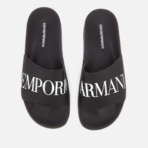 Emporio Armani Men's Zadar Slide Sandals - Black/White