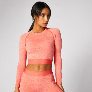 Inspire Seamless Crop Top - Hot Coral