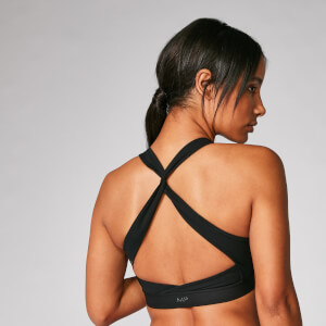 Myprotein Power Cross Back Sports Bra - Black