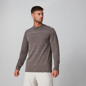 MP Aero-Knitted Long Sleeve T-Shirt - Driftwood Marl