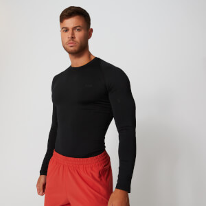 Myprotein Base Long Sleeve Top - Black