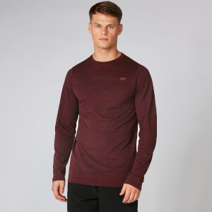 Aero Knit Long-Sleeve T-Shirt - Oxblood Marl