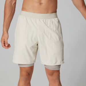 Dubbellaagse Power Shorts - Chalk Marl