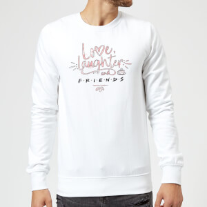 Friends Love Laughter Sweatshirt - White