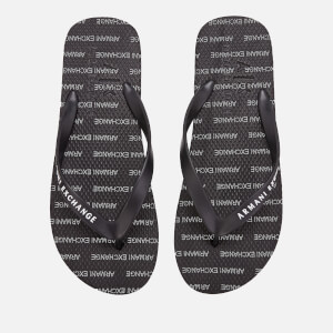 Armani Exchange Men's Printed Flip Flops - Black