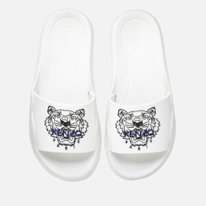 KENZO Women's Tiger Pool Slide Sandals - White