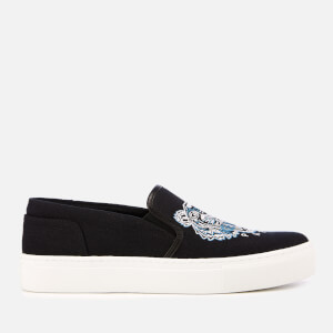 KENZO Women's K-Skate Canvas Slip-On Trainers - Black