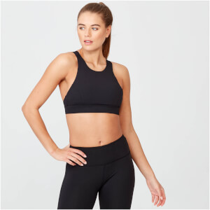 Racer Sports Bra - Black