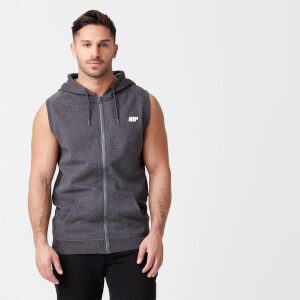 MP Men's Tru-Fit Sleeveless Hoodie - Charcoal