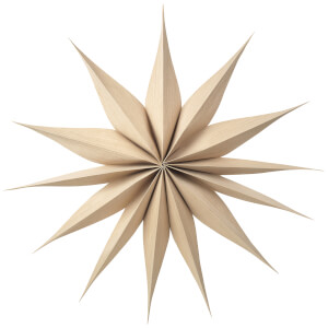 Broste Copenhagen Wooden Star Venok Decoration - Large - Natural