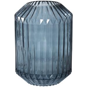Broste Copenhagen Groove Glass Vase - Blue