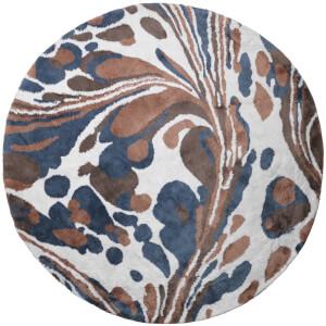Broste Copenhagen Tjalfe Round Cotton Rug - Blue Mira