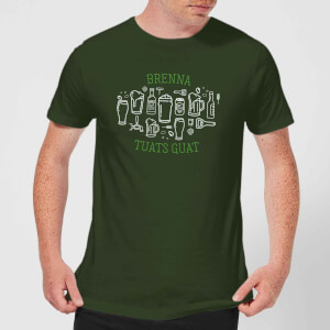 Brenna Tuats Guat! Men's T-Shirt - Forest Green