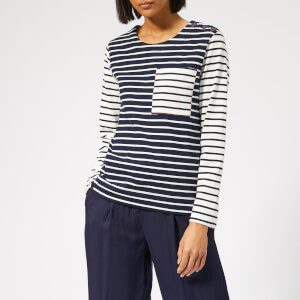 Joules Women's Renee Hotch Potch Jersey Top - Hope Stripe French Navy