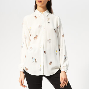 Joules Women's Elvina Long Sleeve Shirt - Cream Dogs