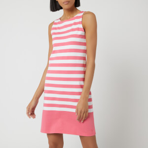 Joules Women's Riva Sleeveless Dress - Pink White Stripe