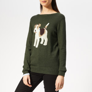 Joules Women's Miranda Intarsia Jumper - Green Dog