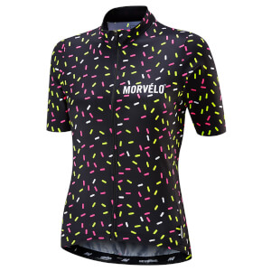 Morvelo Women's Strands Short Sleeve Jersey - Black/Yellow/White/Pink