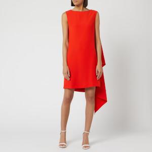McQ Alexander McQueen Women's Sleeveless Cascade Dress - True Red