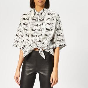 McQ Alexander McQueen Women's Knot Front Shirt - Ivory