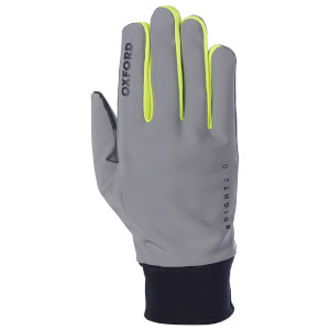 Oxford Bright Gloves 2.0 - Black/Reflective