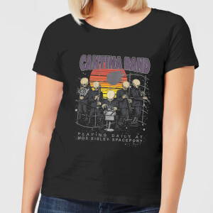 Star Wars Cantina Band At Spaceport Women's T-Shirt - Black
