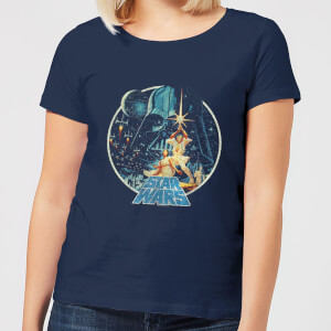 T-Shirt Star Wars Vintage Victory - Navy - Donna