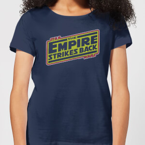 Star Wars Empire Strikes Back Logo Women's T-Shirt - Navy