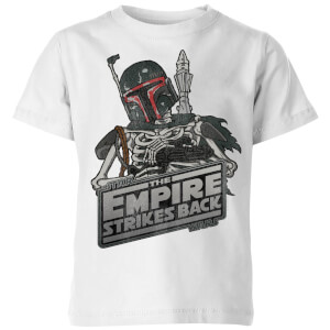 T-Shirt Enfant Boba Fett Skeleton Star Wars Classic - Blanc