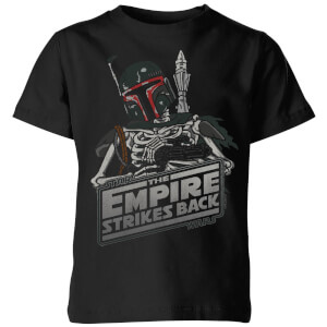 T-Shirt Enfant Boba Fett Skeleton Star Wars Classic - Noir