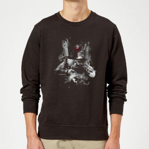 Felpa Star Wars Boba Fett Distressed- Nero