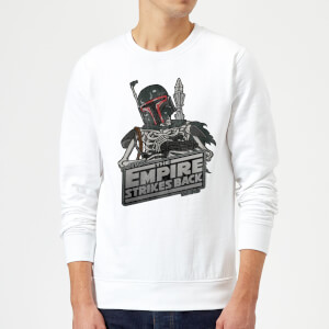 Star Wars Boba Fett Skeleton Sweatshirt - White