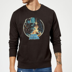 Sweat Homme Vintage Victory Star Wars Classic - Noir