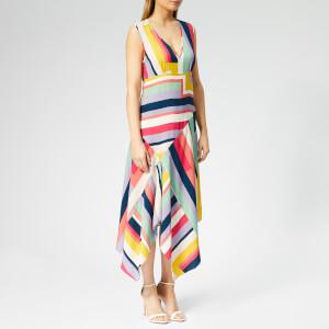 PS Paul Smith Women's Zig Zag Stripe Hankerchief Dress - Multi
