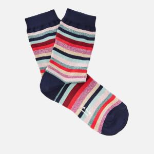 Paul Smith Women's Lurex Stripe Clarissa Socks - Multi