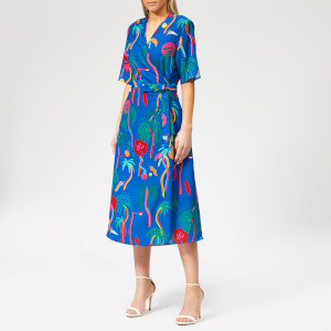 PS Paul Smith Women's Urban Jungle Wrap Dress - Muti
