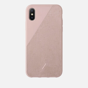 Native Union Clic Canvas iPhone Xs Max Case - Rose