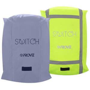 Proviz Switch Rucksack Cover - Silver/Yellow